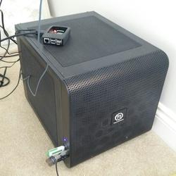 Machine 20170606, with a Raspberry Pi sitting on it